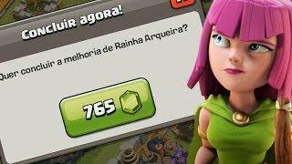 GASTEI 765 GEMAS E GEMEI A RAINHA PARA O NÍVEL 60 NO CLASH OF CLANS !!