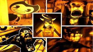 All Jumpscares Deaths Bendy and the Ink Machine Chapter 3