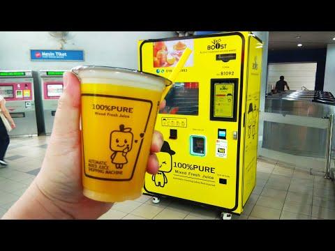 Freshly Squeezed Mixed Fruit Juice Vending Machine (Apple & Orange)