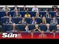 Ursula von der Leyen HECKLED by Brexit Party MEPs during statement