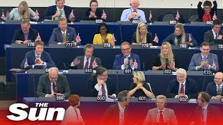 Ursula von der Leyen HECKLED by Brexit Party MEPs during statement