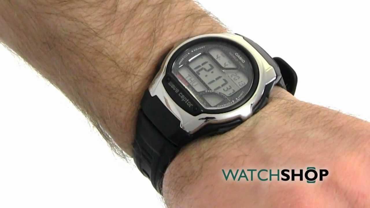 men s casio wave ceptor alarm chronograph radio controlled watch wv rh youtube com casio wv-58a manual casio wv 58e manual
