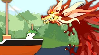 I Caught The Legendary Dragon In Cat Goes Fishing