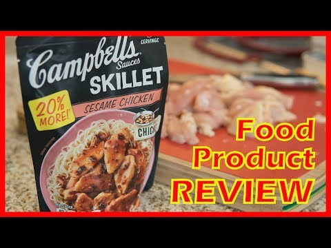 Food product review: Campbell's Sesame Chicken Skillet Sauce | easy cooking recipe for lazy people