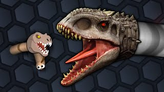 INDOMINUS REX!!! Custom Slither Skin - TRIPLE COIL TROUBLE!?!? | Slither.io