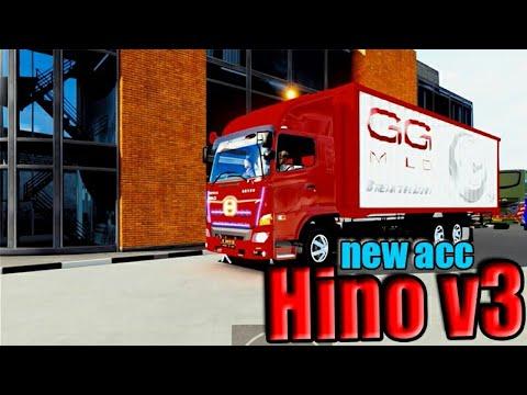ETS2 MOD INDO -- Hino v3 Mengantarkan Rokok GGM*ld - 동영상