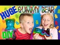YUMMY GUMMY FOODS! Making the World's Largest Gummy Bear, Gummy Worms & Gummy Fish