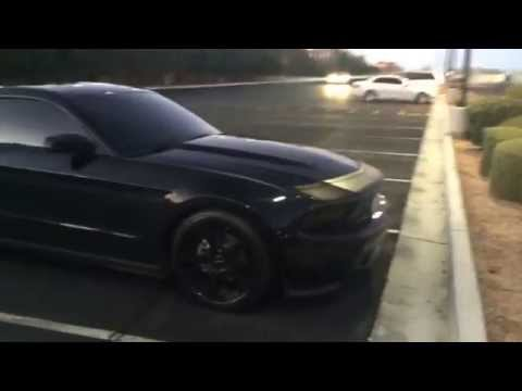 Blacked out 5th Gen Mustang Stance Rims