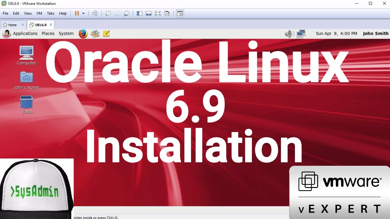 Oracle Linux 6 9 Installation + VMware Tools on VMware Workstation [2017]