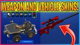 ALL FORTNITE WEAPON & VEHICLE SKINS! (Fortnite Battle Royale)