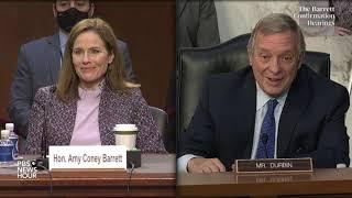 WATCH: Sen. Dick Durbin's closing remarks at Amy Coney Barrett Supreme Court hearing