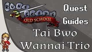 2007 old school runescape osrs detailed quest guide tai bwo wannai trio
