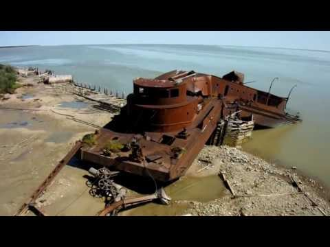 Beached Dredge at Port Nelson, Manitoba, Canada