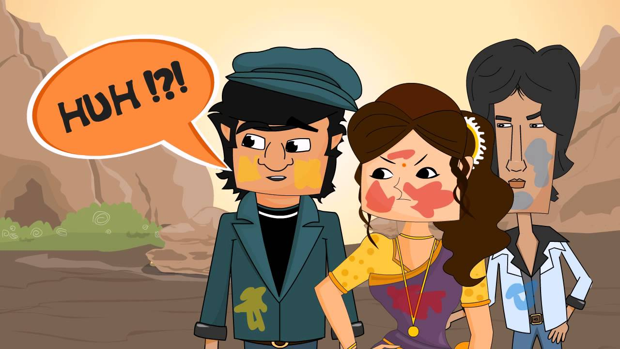 Happy holi animated gif images photos for whatsapp.