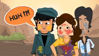 Holi Celebration - Sholay Style (Gabbar Singh and Thakur) - Happy Holi! - 2013