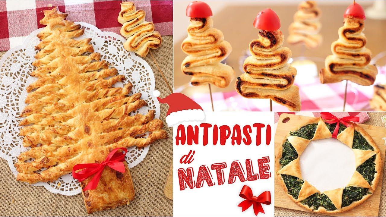 Antipasti Ricette Di Natale.Antipasti Di Natale Ricette Facili E Veloci Con La Pasta Sfoglia Christmas Appetizers Youtube