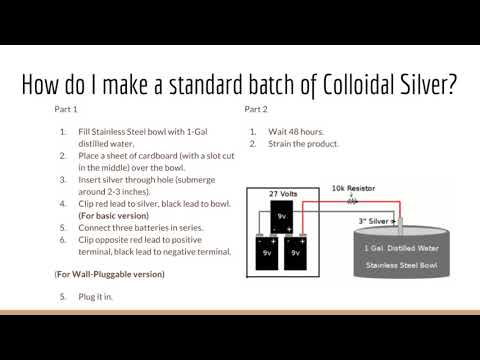 How to make a standard batch of Colloidal Silver - Colloidal Silver FAQ
