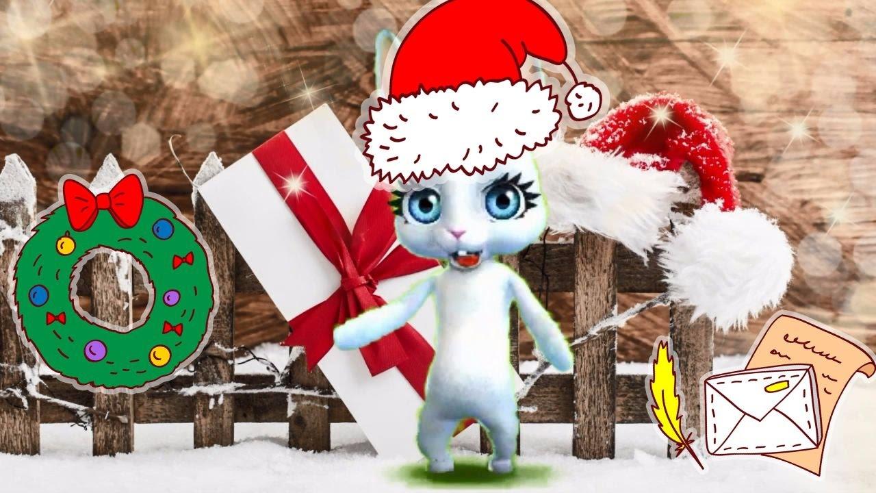 Новогоднее поздравление зайки видео скачать бесплатно фото 549
