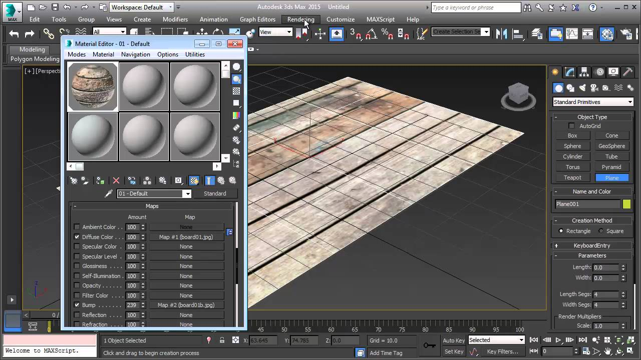 3ds Max Bump Map Effect Tutorial