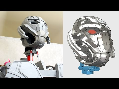 XRobots - Ultron Part 17, A REAL ROBOT - Head Assembly and Animatronics Planning