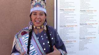 Paul Rainbird Interviews Miss Indian World Danielle Ta'Sheena Finn @ NM State Fair Indian Village