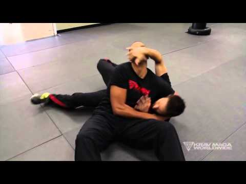 Headlock Defense on the Ground - Krav Maga Training w \AJ Draven