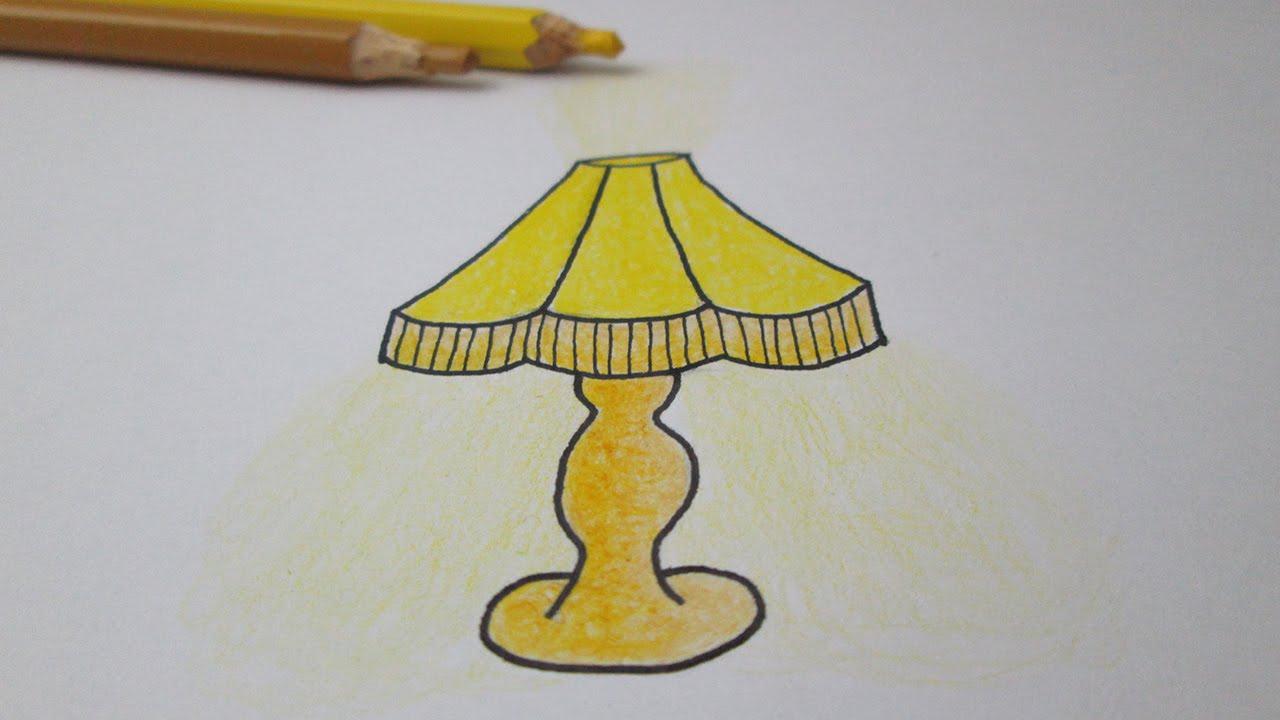 Cómo Dibujar Una Lámpara