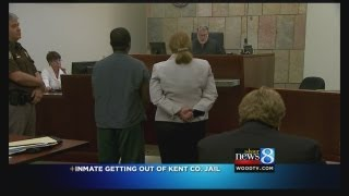 Judge resentences guard-saving inmate