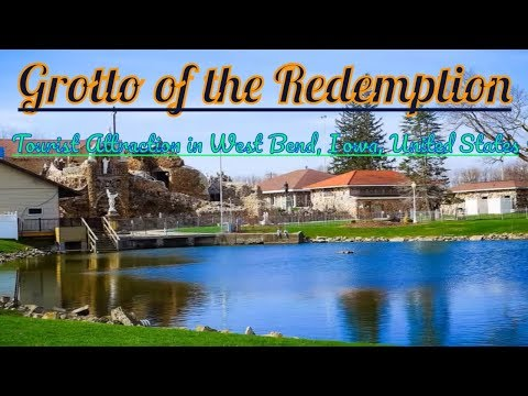 Visiting Grotto of the Redemption, Tourist Attraction in West Bend, Iowa, United States