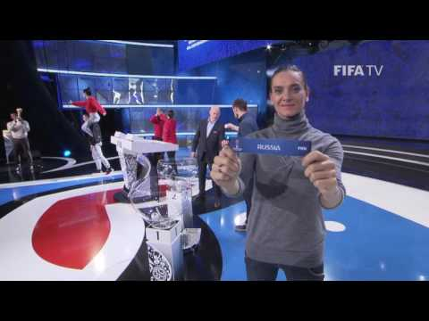 Mannequin Challenge at the FIFA Confederations Cup Draw