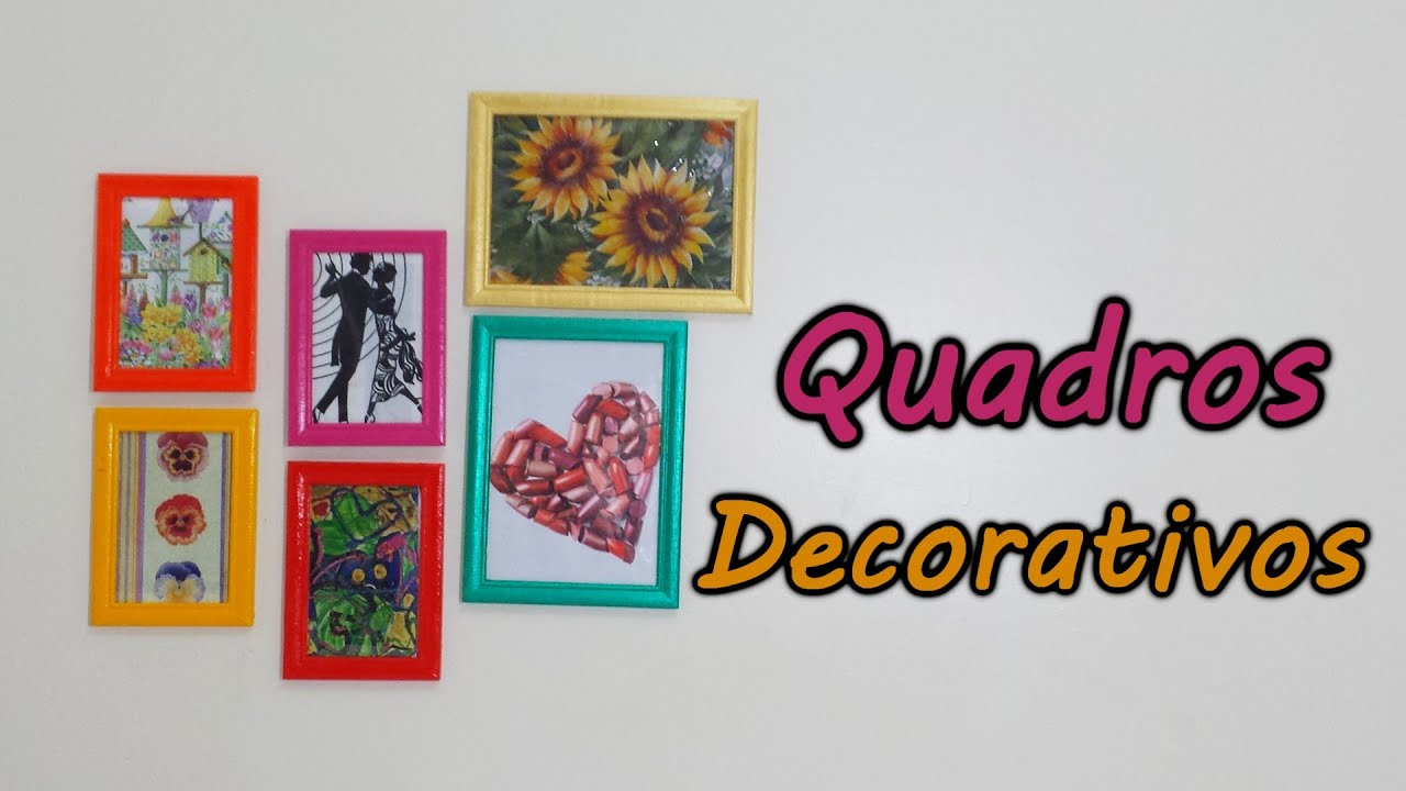 Como Decorar Sua Casa com Quadros Coloridos - YouTube