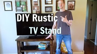 In this video I will show you how to make a rustic tv stand with construction lumber. The main tools I use are a drill, miter saw, and ...