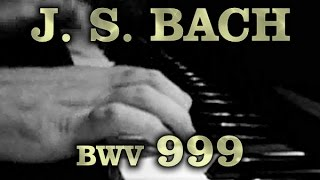 Johann Sebastian BACH: Prelude in C minor, BWV 999 [v01]