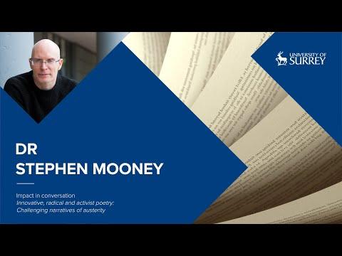 Play video: Impact in Conversation: Dr Stephen Mooney | University of Surrey