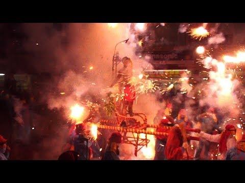 2019.02.15台東元宵節首場炮炸寒單爺 -10位勇士寒單輪番上轎氣勢磅礡! Taiwan Temple Fair Folk Art