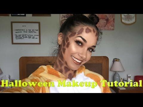I\'m a Giraffe - Halloween Makeup Tutorial - YouTube