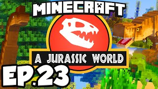 Jurassic World: Minecraft Modded Survival Ep.23 - DINOSAUR EXPANSION!!! (Rexxit Modpack)