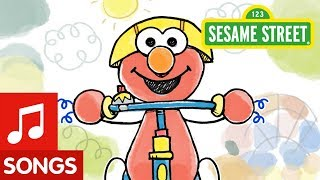 Sesame Street: Elmo Riding A Tricycle Song | Animated Video