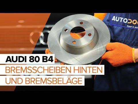 AUDI 80 B3 2.0 E SET 2 Bremsscheiben 4 Beläge hinten für die Hinterachse
