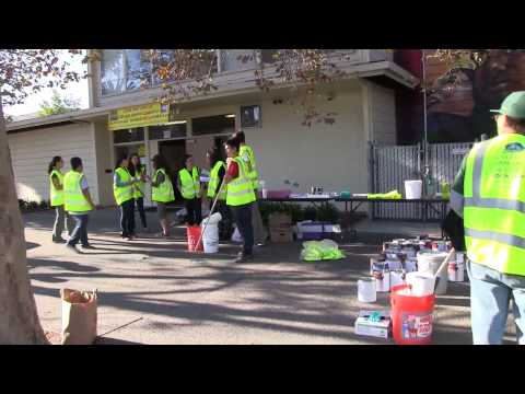 10-18-2014 Oakland EAST LAKE Graffiti Removal Short Clip Video