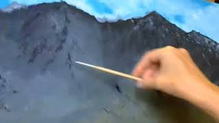 Как нарисовать горы 8.  Уроки для начинающих художников.  Лидия Иванова