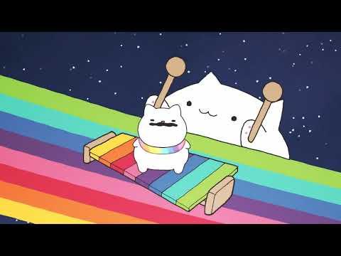 Радужный кот поёт