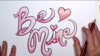 valentine draw mine graffiti drawings drawing easy valentines letters writing creative