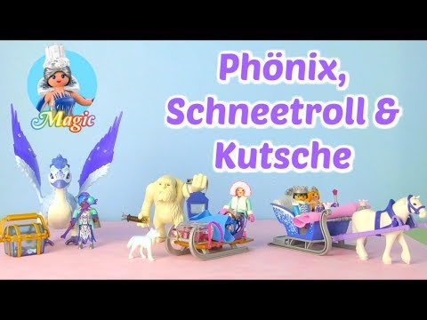 Playmobil Kristallpalast 2018   Schneetroll 9473, Phönix 9472 & Kutsche 9474 I Eiskönigin
