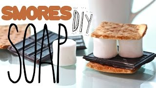 DIY Smore Soap - Melt & Pour Soap Tutorial - Marshmallow, Chocolate, & Graham Cracker