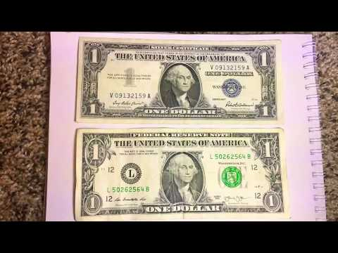 How to tell a silver certificate to a dollar bill