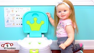 👶🏼  My Reborns! Toddler Julie's Morning Routine!  Getting Ready for Preschool!