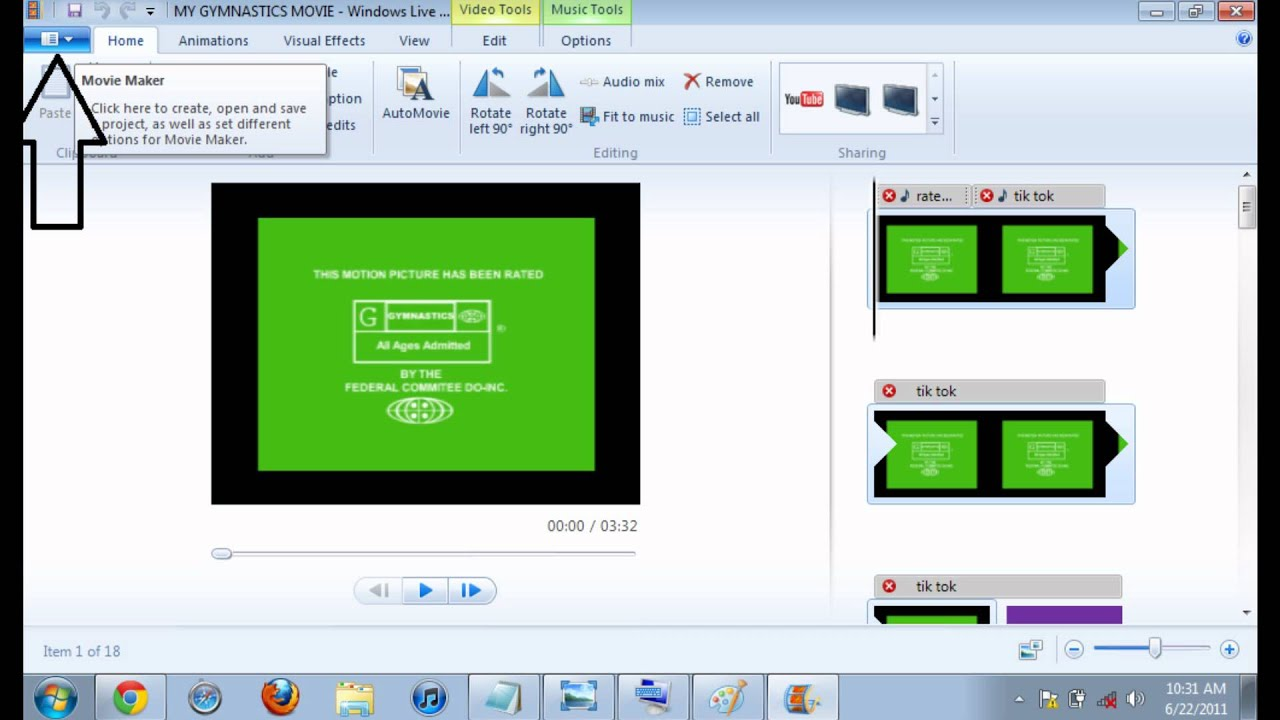 how to put a windows live movie maker movie in full screen youtube