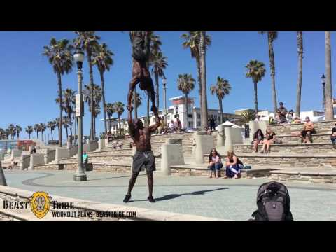 Huntington Beach Hard Workout Calisthenics and Tumbling Behind the scene