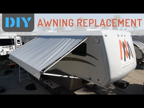 How Easy is it to Replace RV Awning Fabric? - Replacing A&E